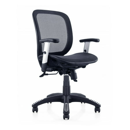 Canary Products Fully Meshed Ergonomic Height Adjustable Black Office Chair w/Armrests, 42 Inch Max Height](Ball Office Products)