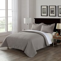 Microfiber Stain- and Water-Resistant Diamond Quilt