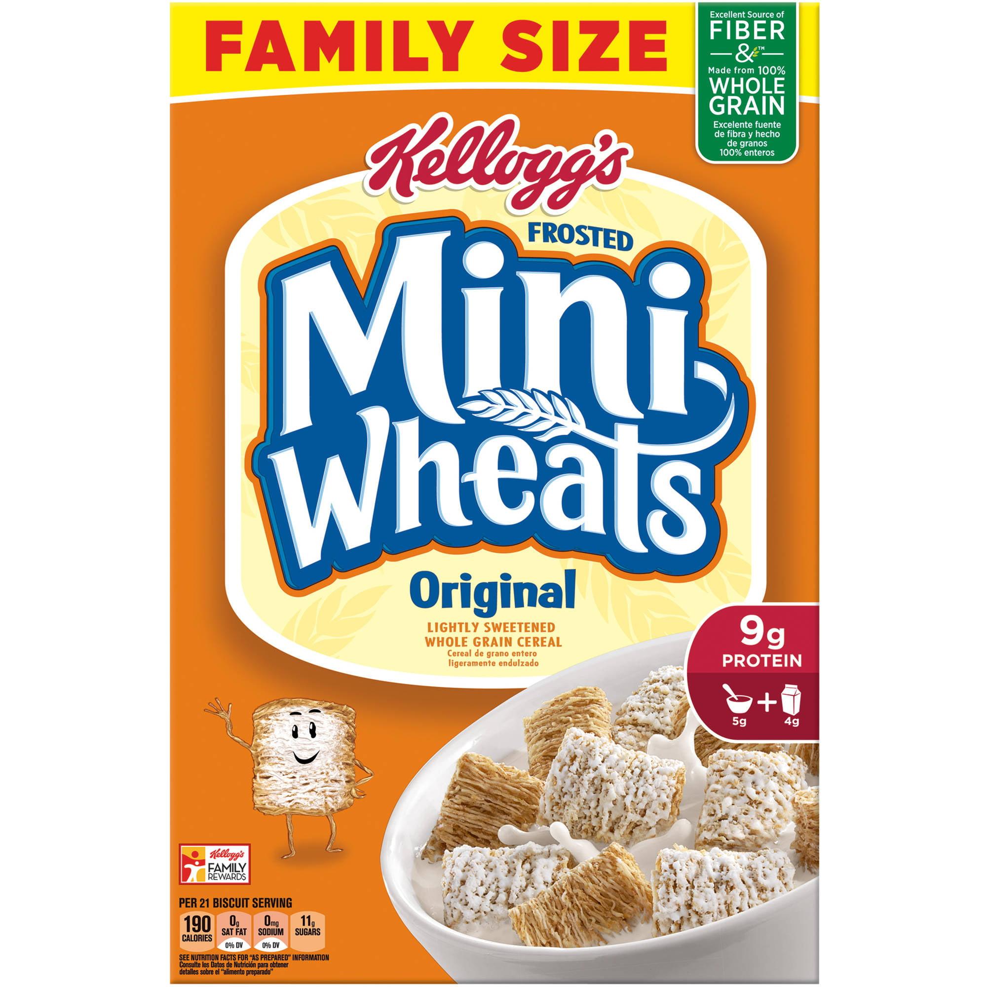 Kellogg\u0026#39;s Frosted Mini-Wheats Bite Size Cereal, 24 Oz - Walmart.com
