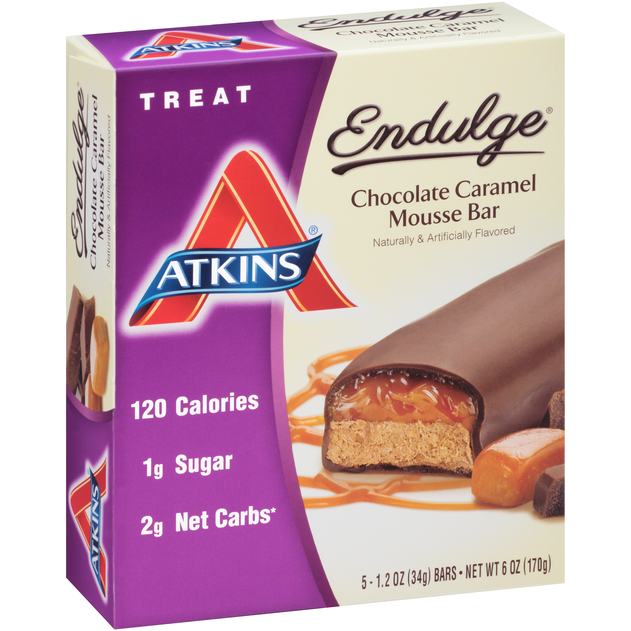 Atkins Endulge Chocolate Caramel Mousse Bars 5-pack