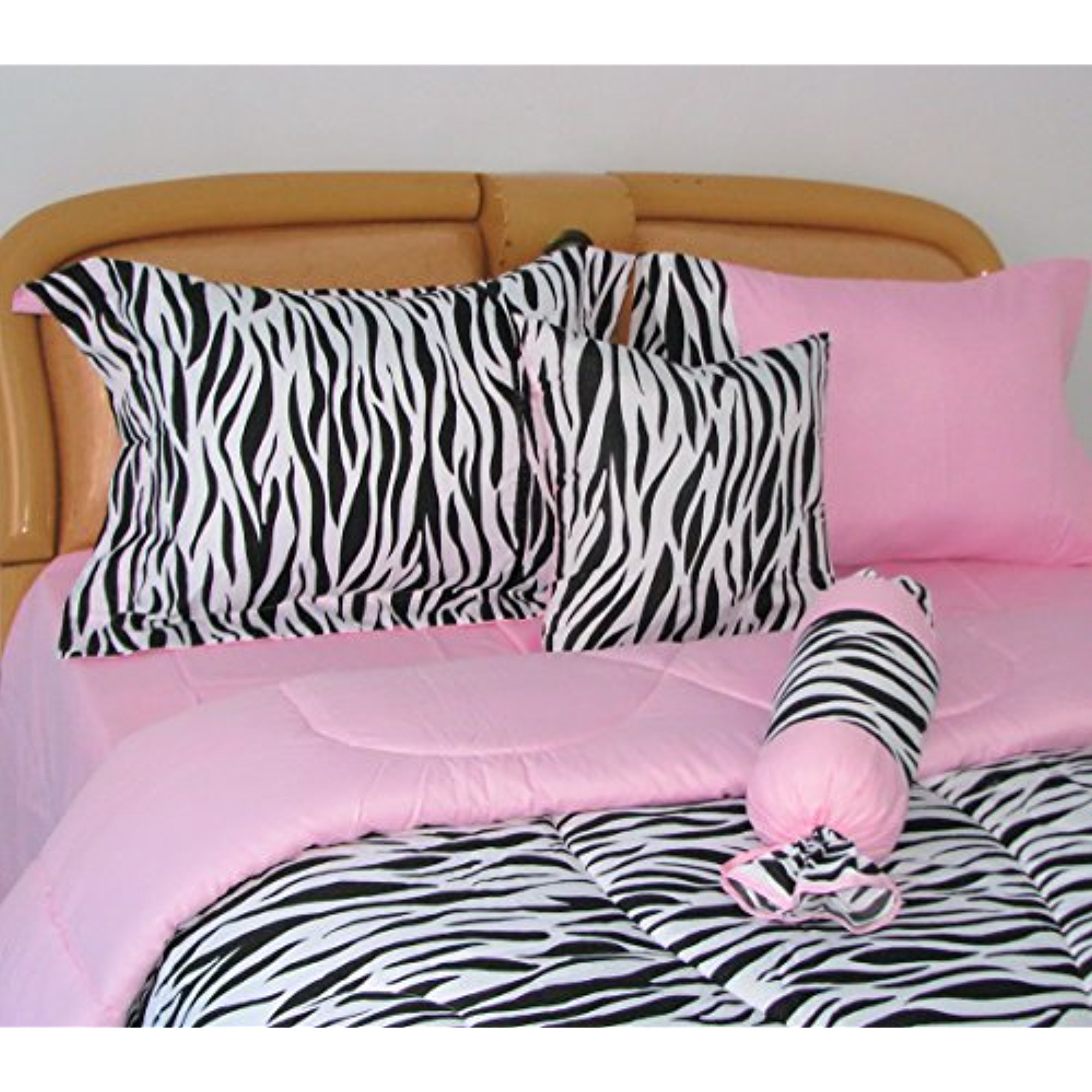 Faship Bed In A Bag Bedding Set 7 Pcs Zebra Print Queen