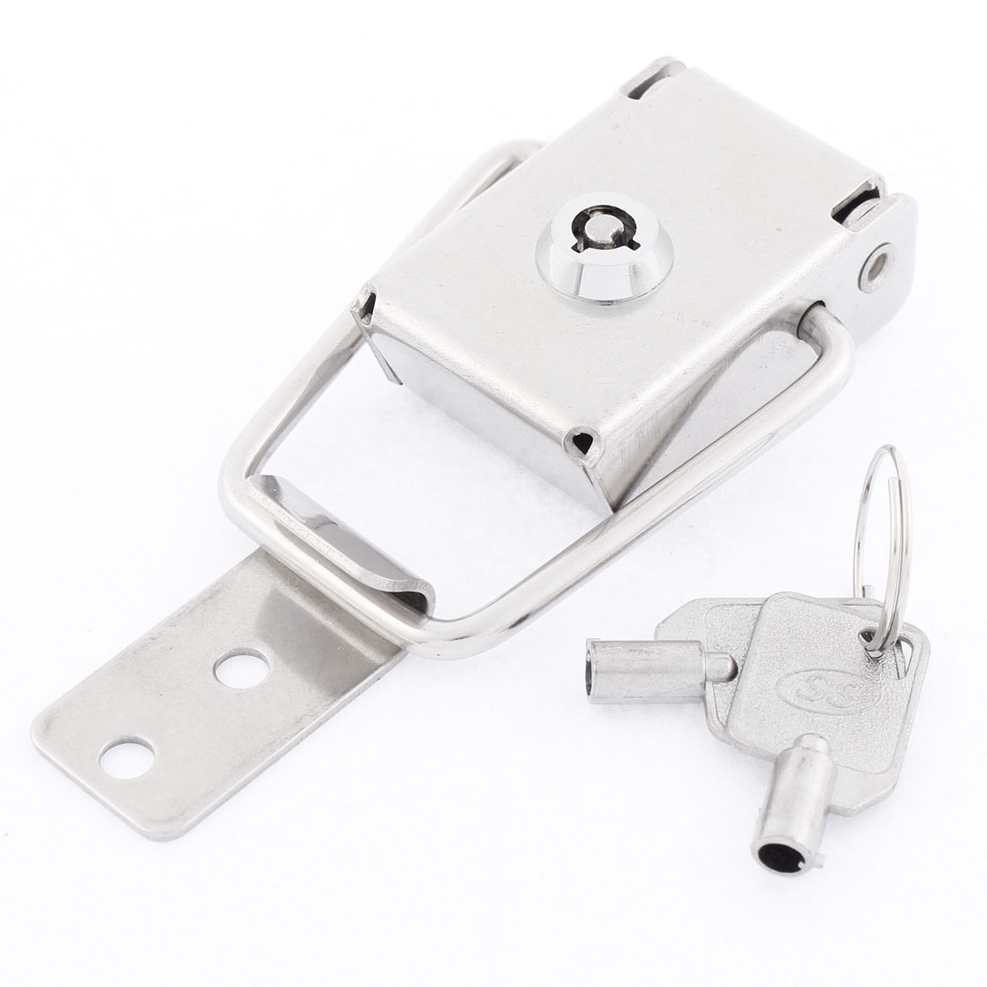 Suitcase Case Box Locking Spring Loaded Toggle Latch Catch Clamp Silver Tone