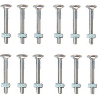 Prime Line GD52103 Carriage Bolts with Nuts- 12 Pack