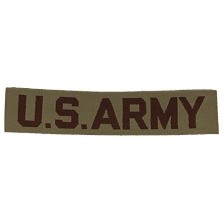 - U.S. ARMY NAME TAPE STYLE Patch - Desert/Tan - Veteran Owned Business.