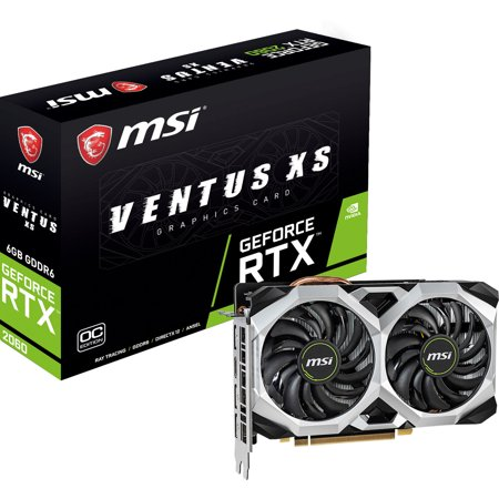 MSI GAMING GeForce RTX 2060 6GB GDRR6 192-bit HDMI/DP Ray Tracing Turing Architecture VR Ready Graphics Card (RTX 2060 VENTUS 6G