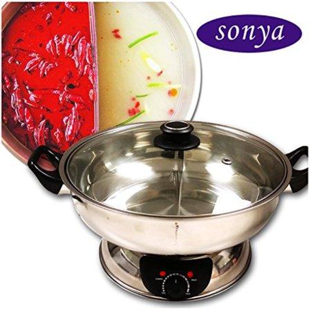 Sonya Shiu Shiu Hot Pot Electric Mongolian Hot Pot W/DIVIDER UL Approved for safety