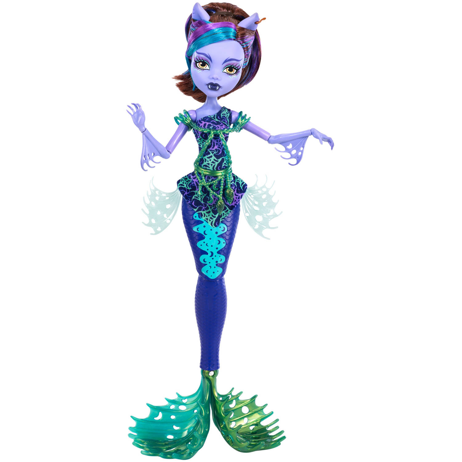 Monster High Great Scarrier Reef Glowsome Ghoulfish Clawdeen Wolf Doll
