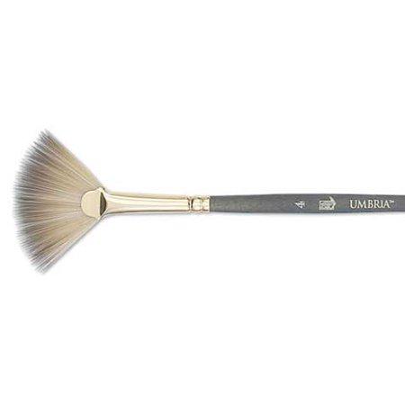 Princeton Brush Umbria Synthetic Blend Acrylic & Gouache Brush, Fan,