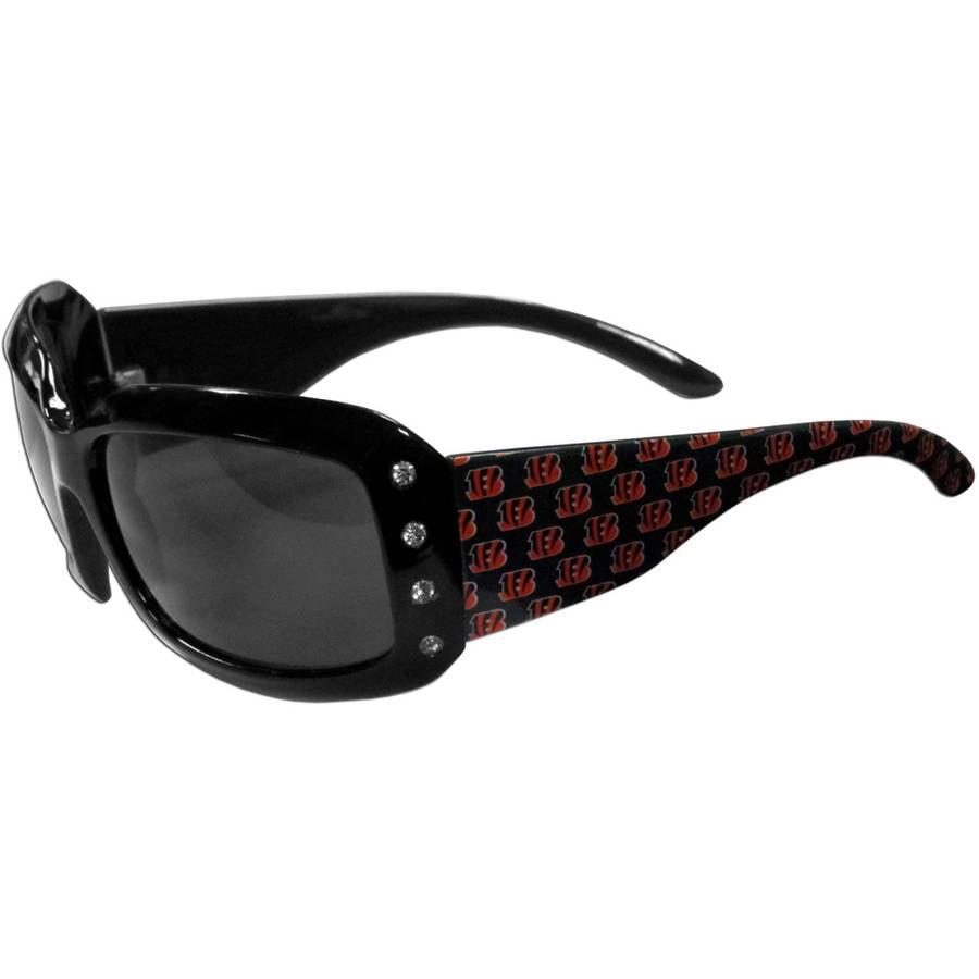 NFL Cincinnati Bengals Women's Designer Sunglasses with Rhinestones