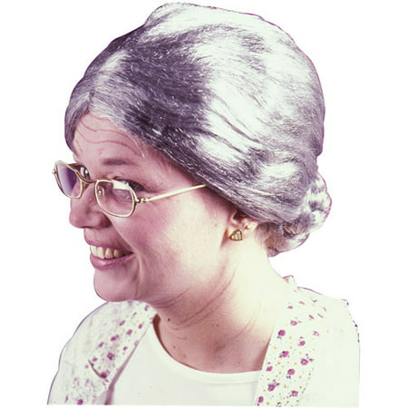 Granny Gray Wig Adult Halloween Accessory - Conehead Wig