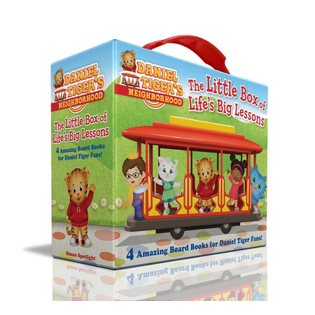 Daniel Tiger's Neighborhood: The Little Box of Life's Big Lessons : Daniel Learns to Share; Friends Help Each Other; Thank You Day; Daniel Plays at School (Board book)