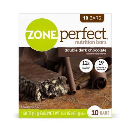 ZonePerfect Nutrition Bar, Double Dark Chocolate, 12g Protein, 20