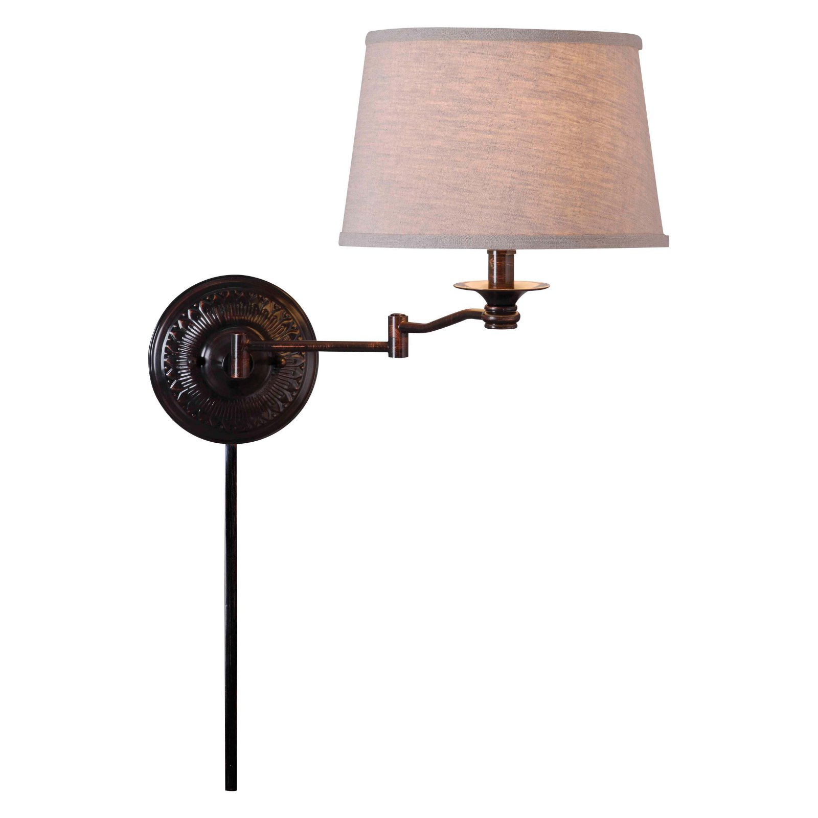 Kenroy Home Riverside 32217CBZ Swing Arm Wall Lamp by Kenroy Home