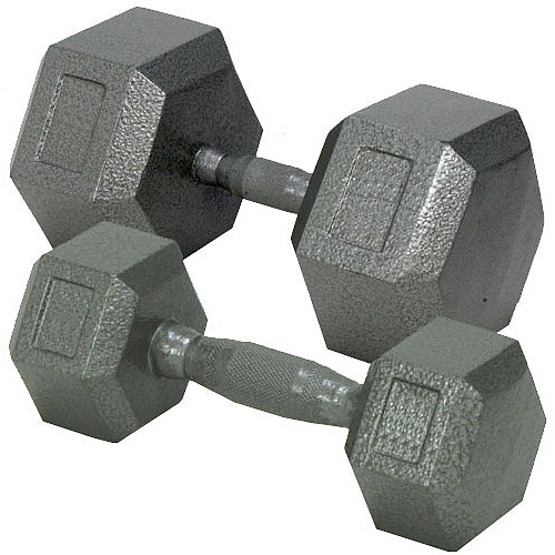 Champion Hex Dumbbell with Ergo Handle, 45 lb