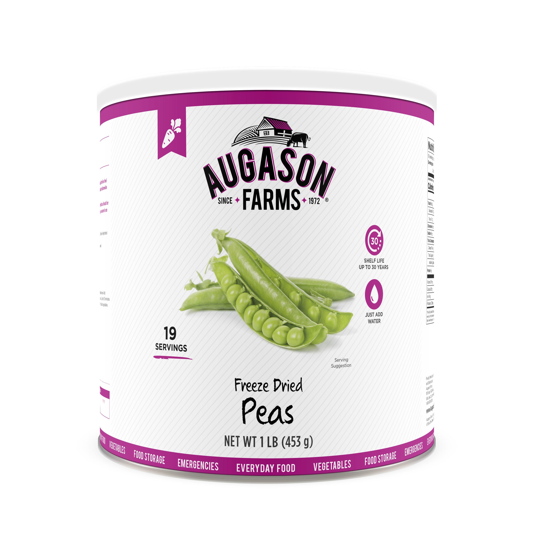 Augason Farms Freeze Dried Peas 1 lb No. 10 Can