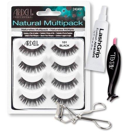 a94ec48efff Ardell Fake Eyelashes 101 Value Pack - Natural Multipack 101 (Black),  LashGrip Strip