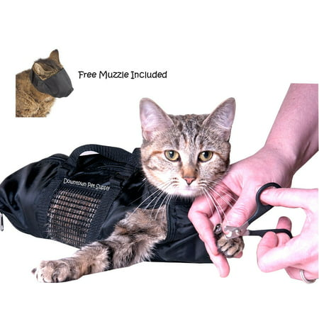 Cat Grooming Bag - Cat Restraint Bag, Cat Grooming Accessory + FREE Cat Muzzle by, Downtown Pet Supply](Walmart Cat Supplies)
