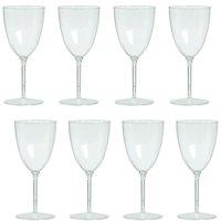 Wine Goblets 8Oz Premium Plastic (8 Pack)
