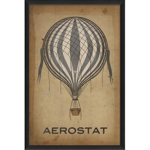 The Artwork Factory Aerostat Hot Air Balloon Framed Graphic Art