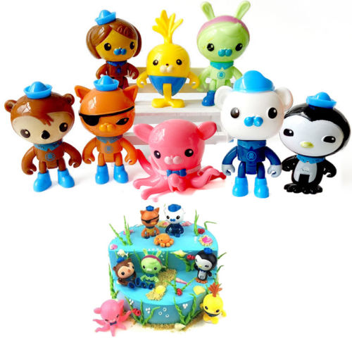 Children 8Pcs Cute Octonauts Octo-Crew 8 Kids Lovely Toys Dolls Collection Gifts Set