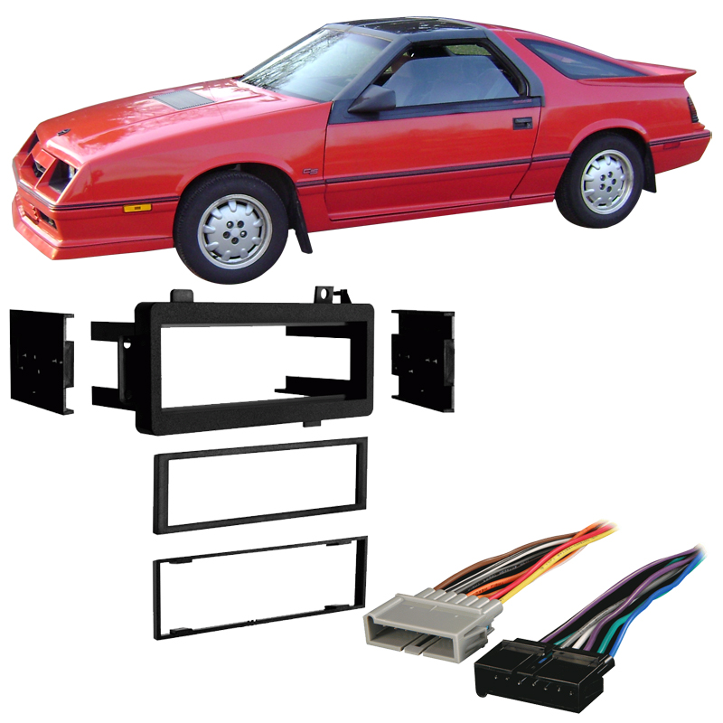 wiring harnesses walmart comproduct image fits dodge daytona 1984 1993 single din stereo harness radio install dash kit