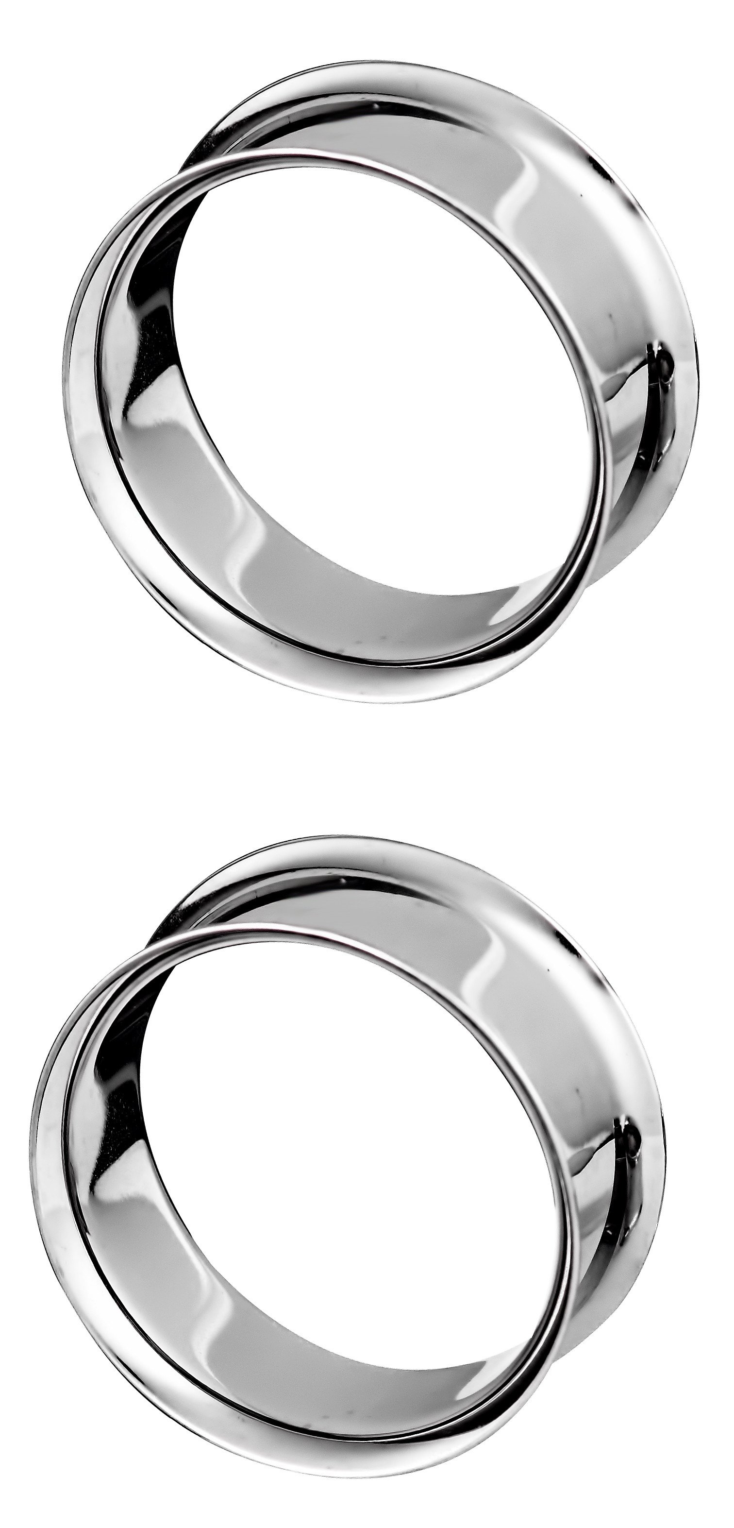 8mm Surgical Steel Curved Eyebrow Bar Ring with Ball /& Spike Ends 1 x 16g