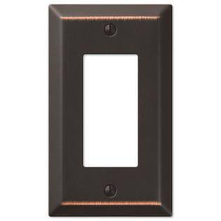 Single GFCI Rocker 1-Gang Decora Wall Switch Plate, Oil Rubbed Bronze Decora Style Rocker Wall Switch