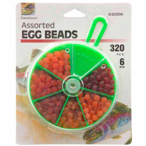 Danielson Assorted Egg Beads Fishing Tackle