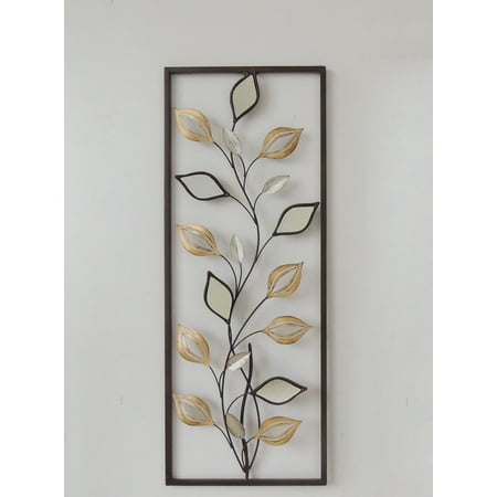 New All American Collection Modern Chic Aluminum/ Metal Wall Decor with Frame 12