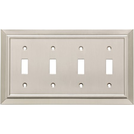 Franklin Brass Classic Architecture Quad Switch Wall Plate in Satin Nickel