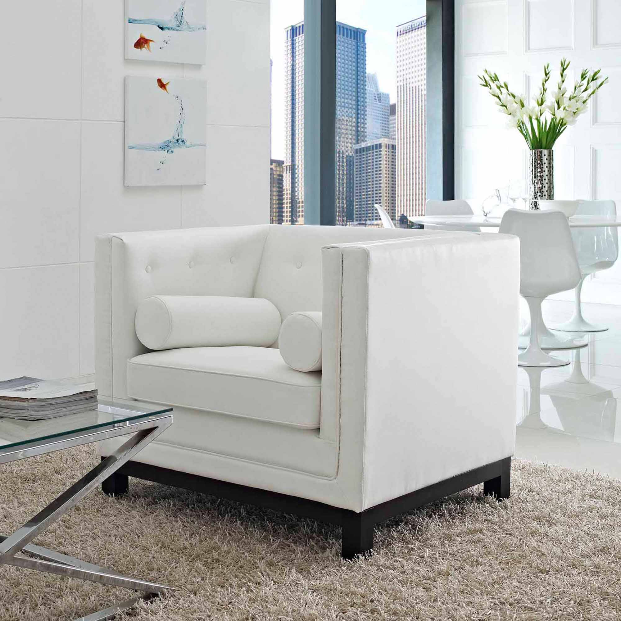 Modway Imperial Tufted Leather Armchair, Multiple Colors by Modway