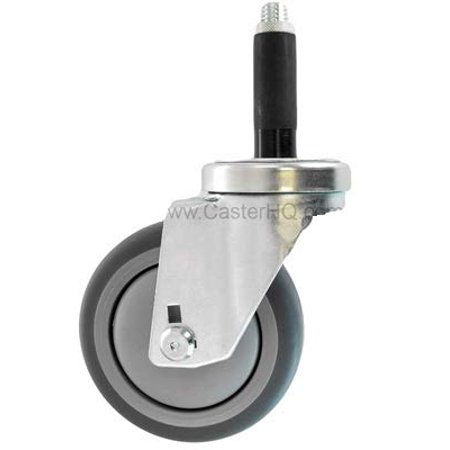 CasterHQ 5 X 1 1 4 Swivel Caster Gray Thermo Plastic Rubber Wheel 3 4