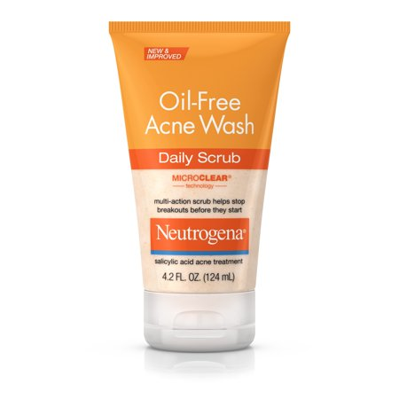 Neutrogena Oil-Free Acne Face Scrub with Salicylic Acid, 4.2 fl. (Best Face Exfoliator For Acne)