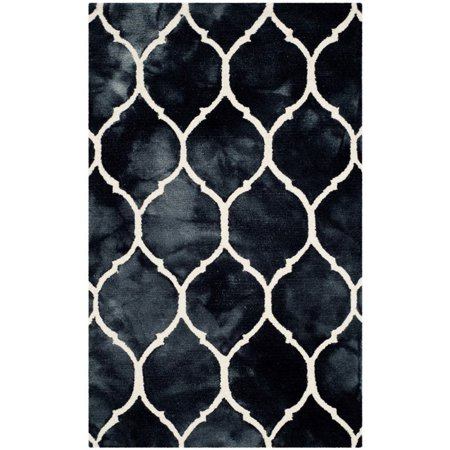 Safavieh Dip Dye 3' X 5' Hand Tufted Rug in Graphite and Ivory - image 2 de 10