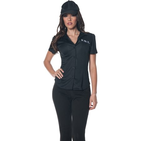 FBI Shirt Adult Halloween (Women's Fbi Agent Costume)