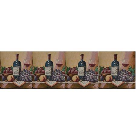Saturday Knight Ltd Uncorked And Unwind Fruit & Wine Bottle Adorn Window Valance With 1.5