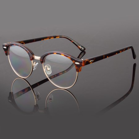 Clear Lens Fashion Glasses Retro Horn Rim Nerd Geek Men Women Hipster Eye (Geek Chic Glasses Frames)