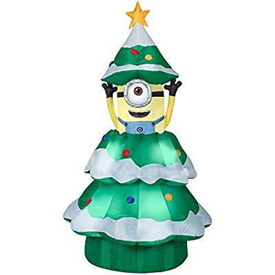 animatronic lighted christmas minion inflatable 7 feet - Christmas Animatronics