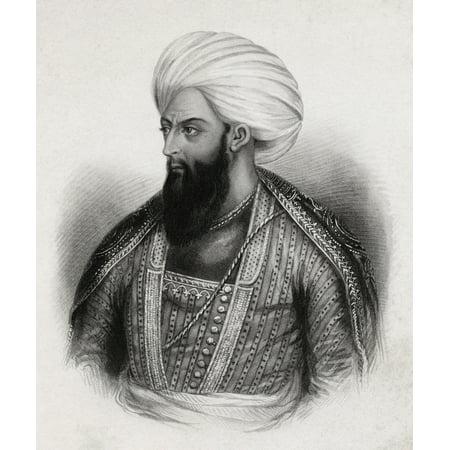 Indian Art And Artist (Dost Mohammed Khan Mohammedzai 1788-1863 Son Of Painda Khan Ruler Of Kabul 1826-39 1842-63 From A Drawing By An Indian Artist Canvas Art - Ken Welsh  Design Pics (26 x 30) )