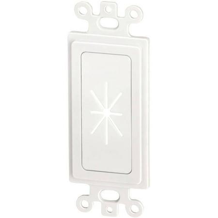 - Datacomm Electronics 45-0016-WH Decor Insert with Flexible Opening, White