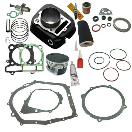 Top Notch Parts Yamaha Warrior 350 Cylinder Piston Gasket Air Oil Filter Top End Kit Set 1987-2004 (Kit Top End Set)