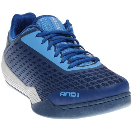 and1 ascender low - blue;white - mens (Mens Lowcut Basketball Shoes)