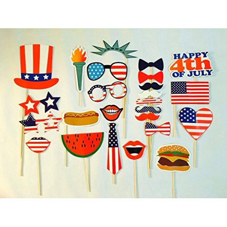 USA-SALES 4th of July Photo Booth Props, Independence Day Party Decorations, by USA-SALES Seller - 4th Of July Party
