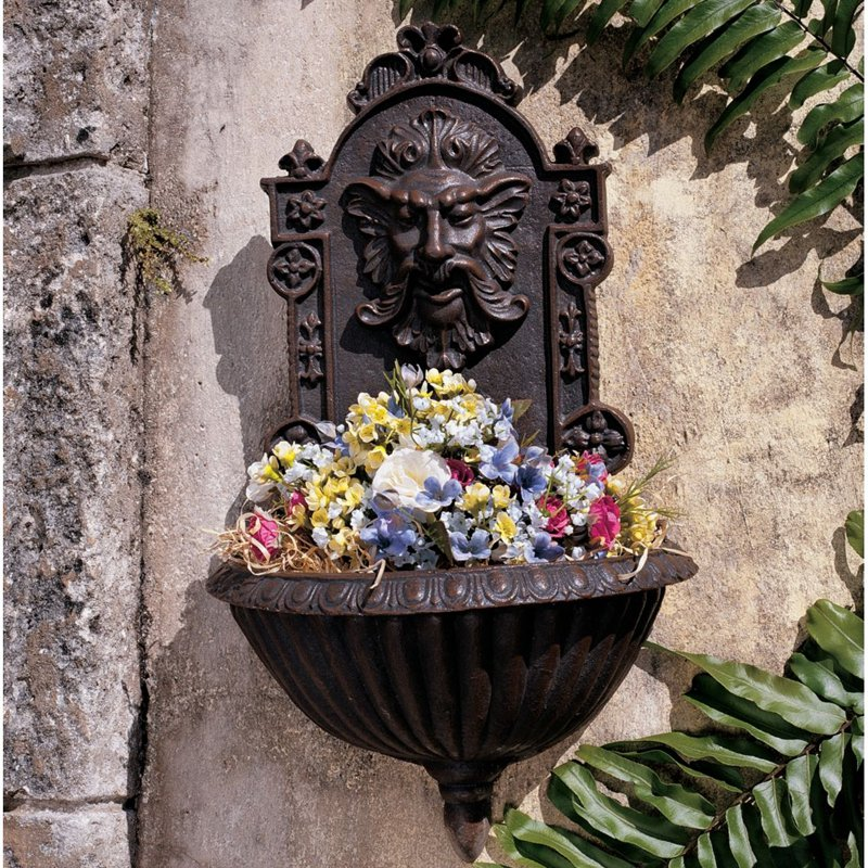 Design Toscano Greenman Sculptural Garden Wall Font