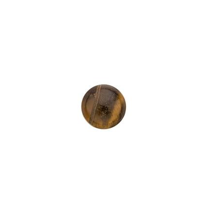 Tiger Eye Natural Simi Precious Stone cabochons 10mm Round flat back Gemstone 5cnt. (Natural Cabochon Tiger Eye)