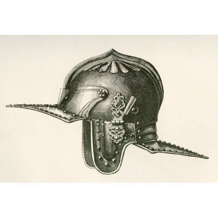 17Th Century Helmet Said To Have Belonged To Oliver Cromwell From The British Army Its Origins Progress And Equipment Published 1868 Canvas Art - Ken Welsh  Design Pics (17 x (Oliver Cromwell And The New Model Army)