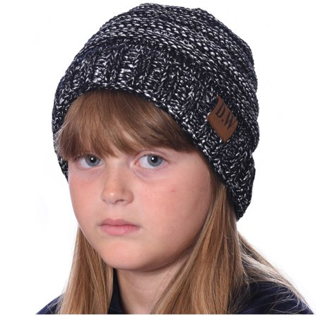 18dadededbb DEBRA WEITZNER - DEBRA WEITZNER Beanie Hats for Kids Unisex Winter Slouchy  Beanie for Girls Boys Toddlers Black   Silver Metallic - Walmart.com