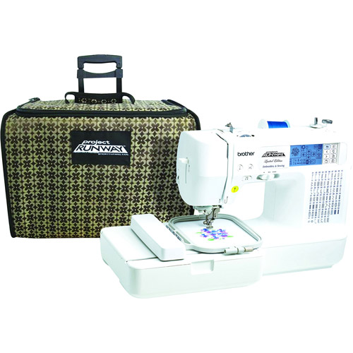 Brother LB6800 PRW 67 Stitch (98-Stitch Function) with 70 Built-In Designs Project Runway Sewing and Embroidery Machine with Tote