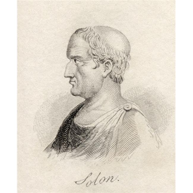 Posterazzi DPI1855675 Solon 638 - 558 Bc Athenian Statesman Lawmaker & Lyric Poet From The Book Crabbs Historical Dictionary Published 1825 Poster Print, 13 x 16 - image 1 de 1