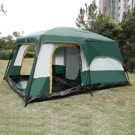 8 10 Person Cabin Style Family Outdoor Camping Tent 210d
